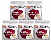 TASSIMO Costa Americano coffee Pack of 5 Total 80 discs/pods 80 LARGE servings