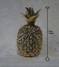 STUNNING Large Gold Art Pineapple Ceramic Ornament Gift & Boxed 30cm