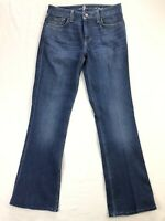"""7 For All Mankind A Pocket Womens 29 Blue Stretch Denim Jeans (32"""" Inseam)"""