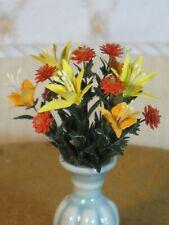 Arlene Finkelstein Lily Floral Arrangement in Vase Artisan Dollhouse Miniature
