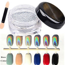 Beauty 20 Colors Magic Mirror Glitter Powder Nail Art Chrome Pigment 2g + Brush