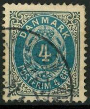 DENMARK - DANIMARCA - 1875 - Cifra e stemma in doppio ovale - Valore in ore - 4