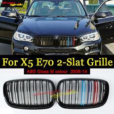 Par Genuine BMW F15 X5 F16 X6 Negro Brillante rejillas de rendimiento M 51712334708 710