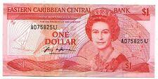 Eastern Caribbean 1 dollar 1988-89 Anguilla    FDS  UNC  pick 21 u    lotto 3184