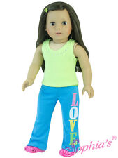 """Sophia's 2 Pc. """"Love"""" Embroidered Track Set Fits American Girl & other 18"""" Dolls"""