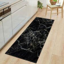 1 PC Anti-Slip Carpet Black White Marble Printed Entrance Doormat Mats Carpets