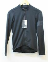 RAPHA Men's Pro Team Long Sleeve Midweight Jersey Black Cycling Top XS NEW