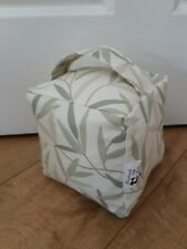 """DOOR STOP """"LAURA ASHLEY WILLOW LEAF FABRIC""""-UNFILLED-HAND-CRAFTED NEW"""