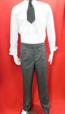 David Luke Boys/Men Single Pleated Grey school/work trousers W 36/90  INS leg 32