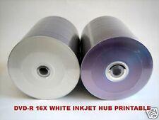 1000 DVD-R 16X WHITE INKJET HUB PRINTABLE DVD-R BLANK DVDR MEDIA DISCS