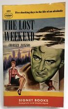 LOST WEEKEND Charles Jackson SIGNET Alcoholic ADDICTION