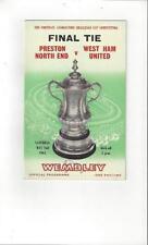 FA Cup Preston North End Teams O-R Final Football Programmes