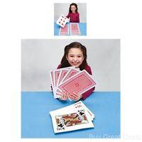 Giant Jumbo Playing Cards Fun Games Extra Large Jumbo Card Set Of 52 Two Jokers