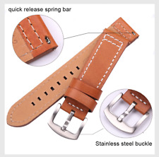 Genuine Leather Watch Strap Band For Seiko Tissot Citizen Timex Oris Casio
