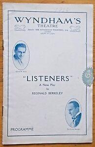 Listeners programme Wyndham's Theatre 1928 Frederick Lloyd Jane Wood Leon M Lion