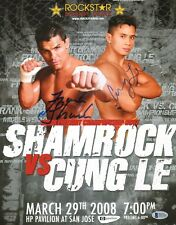 Cung Le & Frank Shamrock Signed UFC 11x14 Photo BAS COA StrikeForce Fight Poster