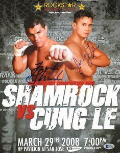 Cung Le & Frank Shamrock Signed UFC 11x14 Photo BAS COA StrikeForce Fight Poster