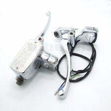 "1"" Motorcycle Handlebar Master Cylinder Hydraulic Brake Control Clutch Levers"
