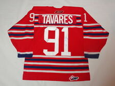 JOHN TAVARES SIGNED #19 OSHAWA GENERALS ALTERNATE ROOKIE JERSEY PROOF JSA COA