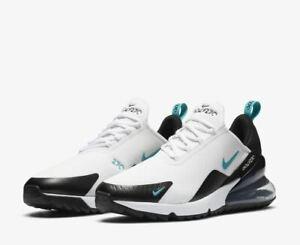 New Nike Golf Air Max 270 G Golf Shoes White Black CK6483-100 Men's