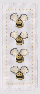 Cross Stitch Kit - Bees Bookmark