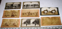 8 Vintage Military Stereoview Stereoscope Photo Cards by BW Kilburn,Griffith Etc