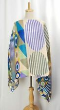 PLEATS PLEASE Madame-T Multicolor Cape Shawl Poncho ISSEY MIYAKE 170 0521