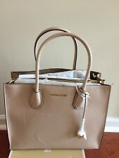 NWT Michael Kors Mercer Large Convertible Bonded Leather Tote Oyster