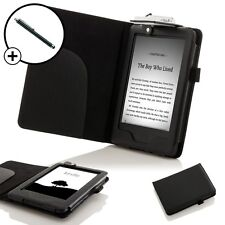 De Cuero Negro Smart Funda Protectora Con Luz Amazon Kindle (7th Gen 2014) + Stylus