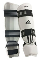 adidas Schienbein Spannschutz PU weiß ADITSP02. Karate, Taekwondo, Kickboxen,usw
