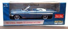 1961 Chevrolet Impala JEWEL BLUE Convertible 1:18 SunStar 3404