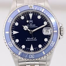 Tudor SUBMARINER MEDIUM classico Tudor faltband Blue documenti top