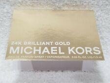 Michael Kors 24K BRILLIANT GOLD Eau De Parfum EDP Spray Sample .05 oz/1.5mL New