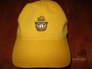 Smokey Bear Yellow Baseball Hat Adjustable Embroidered Bear Logo By Mad Engine