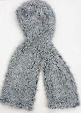 Sciarpe, foulard e scialli da donna grigia in pelliccia