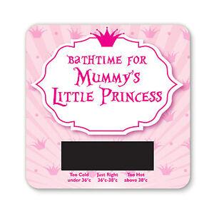 BABY BATH THERMOMETER - MUMMYS LITTLE PRINCESS  DESIGN