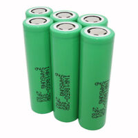 6pcs 18650 Battery 2500mAh 25R 3.7V Li-ion INR High Drain Rechargeable for Vape