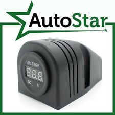 12V or 24V Surface Mount Volt-Meter (6 - 30 Volt DC Range) Ideal for 12 or 24 V