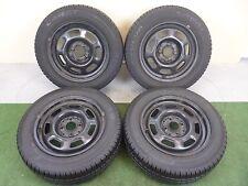 (3434) 4x SOMMER KOMPLETTRAD Stahl 6jx14 ET38 & FULDA 185/60 R 14 Seat VW