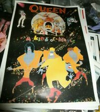 QUEEN Promo Vintage Poster 80s It's A Kind Of Magic (1986) Concert NO T Shirt