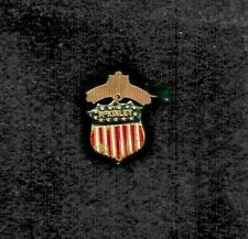 original WILLIAM MCKINLEY brass and enamel shield pin stars and stripes