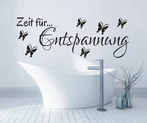 X8104 Spruch Zeit für Entspannung Sticker Wandbild Wandaufkleber Wellness Bad