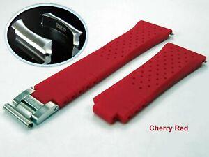 OT AK End Link & 20/16mm Breathable Rubber Strap Band fit Rolex GMT Master