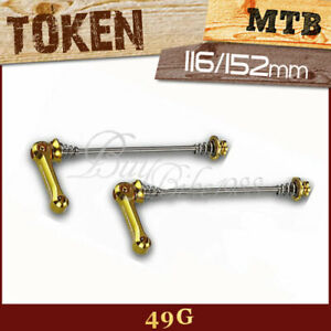 47g GOLD AGA gobike88 TOKEN TK480 Titanium Axle Skewer for Road