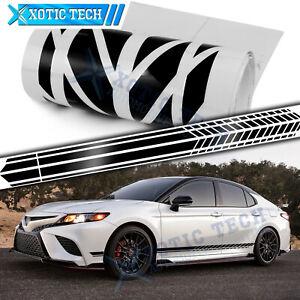 2x Black Side Door Fender Sport Decal Stripes Vinyl Sticker For Toyota 2000-up