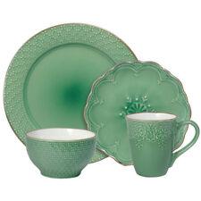Pfaltzgraff French Lace Green 16 Piece Dinnerware Set