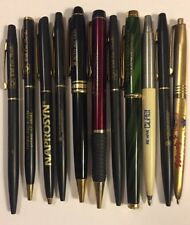 Lot 11 Vintage Ballpoint Pens Advertising Business Naprosin CT Woody's Cheddar