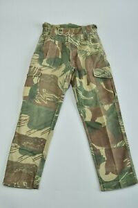 Rhodesian Army 1970s Denim Brushstroke Camouflage Combat Uniform Trousers. BVP