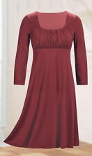The Paragon Womens Wine Effortless Empire Holiday Party Dress Size: 1X NEW