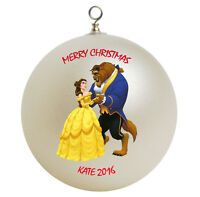 Personalized Beauty and the Beast Christmas Ornament